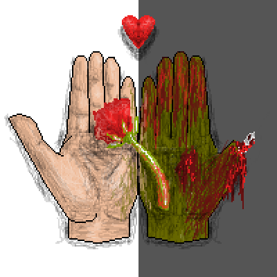 pixel art Love After Death death love after hand zombie sad by caleb7447 piq