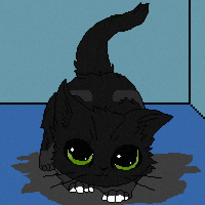 pixel art Puss (my cat) by gummibearzrule piq