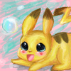 Pikachu and bubble!