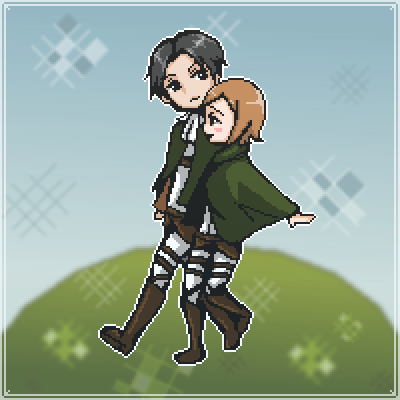pixel art Levi and Petra Levi SNK Petra Attack on Titan thesunrisemassacre by creeperslayer098 piq