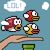 Flappy And Splashy in Hand