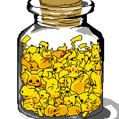 pixel art Pika Bottle by caleb7447 piq