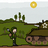 Soldier + M4 Sherman WWII
