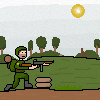 soldier shooting stance