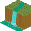 Isometric Waterfall