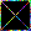 "colorful ""x"""