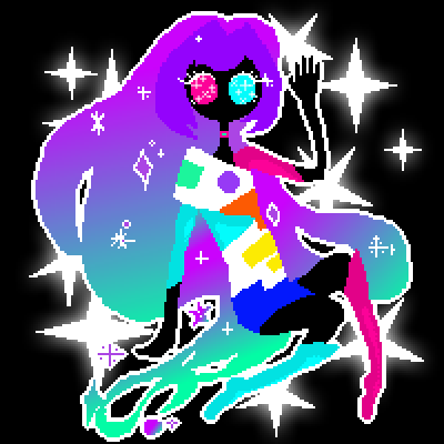 pixel art My Younger Sister Galaxia by UN1Q3 piq
