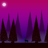 Full moon forest