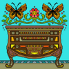 colored dresser butterfly