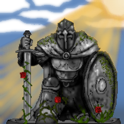 pixel art Talrithian war statue roses Talrith Statue contest steel stone by Grogramn piq