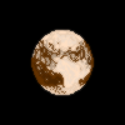 "pixel art Pluto, the ""Undiscovered"" Planet dwarf planet undiscovered not a planet undiscovery Pluto by jacklrj piq"