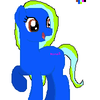 my sister as a pony (she chose the colors)