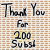 ♥ Thank You For 200 Subs! ♥
