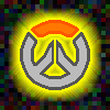 Glowing Overwatch logo
