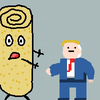Donald Trump Chasing a burrito (Request number 1)