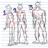 Anatomy Practice on Girls 1#: Muscle development.