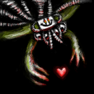 pixel art Your Best Nightmare undertale flowey boss game video omega by Shiro piq
