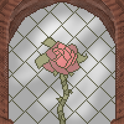 pixel art stained glass rose glass window stained eh rose by Jankovic123 piq