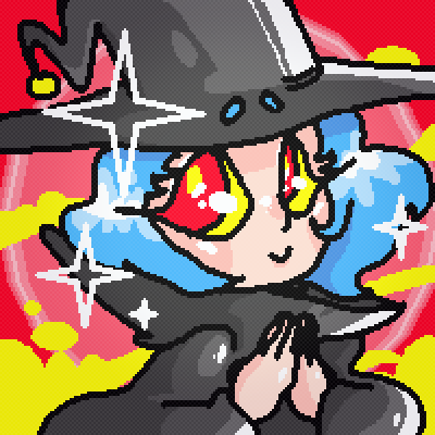 pixel art Witchsona by UN1Q3 piq