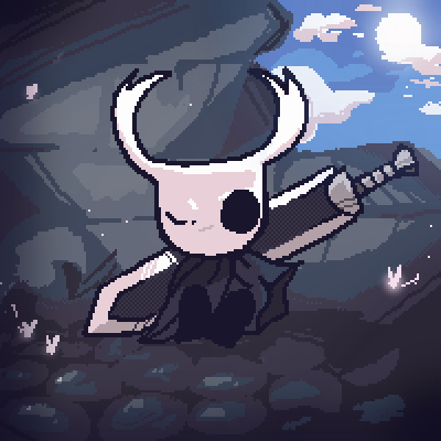 pixel art Hollow Knight knight ref berserk hollow potd by AoiUchida piq