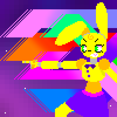 pixel art This isn't where I was going with this at first but oh well fnaf spring bonnie by PixelChara piq