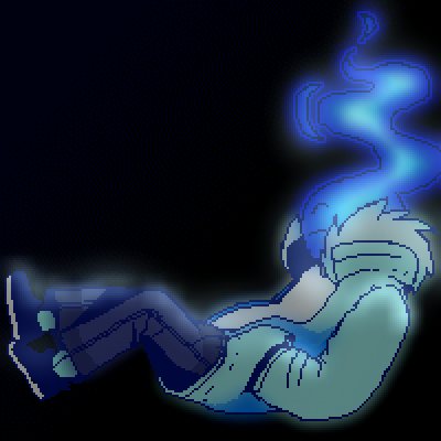 pixel art Blu Fire fire blueness by CR1T1KAL_ly piq