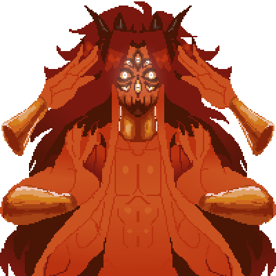 pixel art sorry for the spammy updates i needed to touch up a few things  god demon? spider alien story by Jo-Jo piq