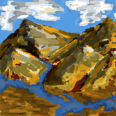 pixel art my first landscape ever by BananaExtract piq